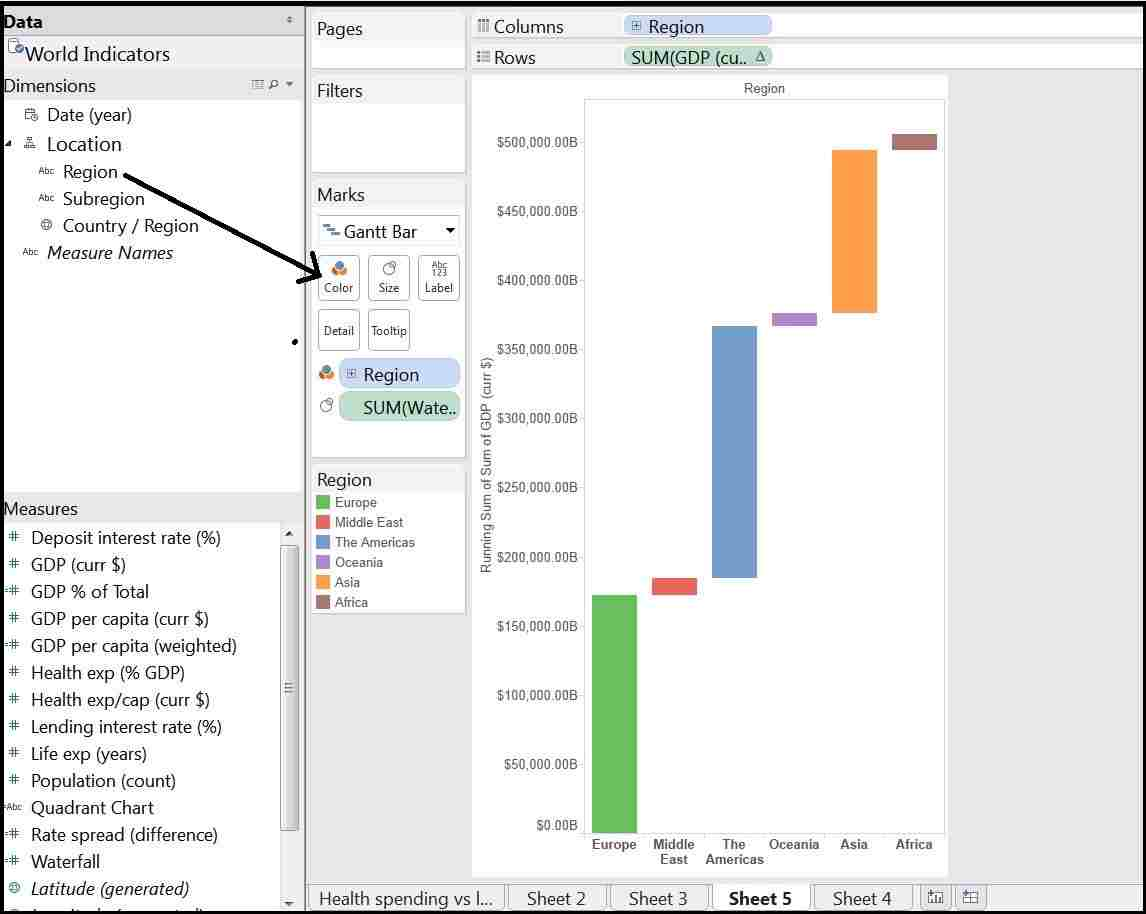 Waterfall chart in tableau analytics tuts waterfall 5 and final compressed ccuart Gallery