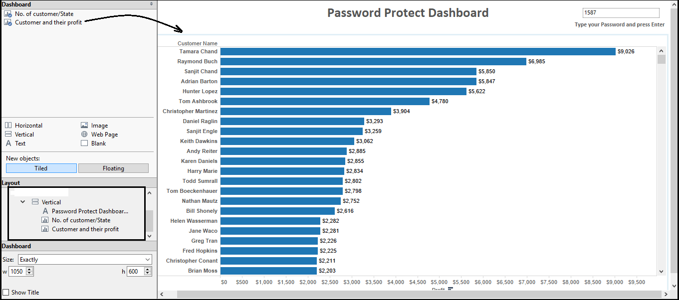 How to make Password Protected dashboard in Tableau