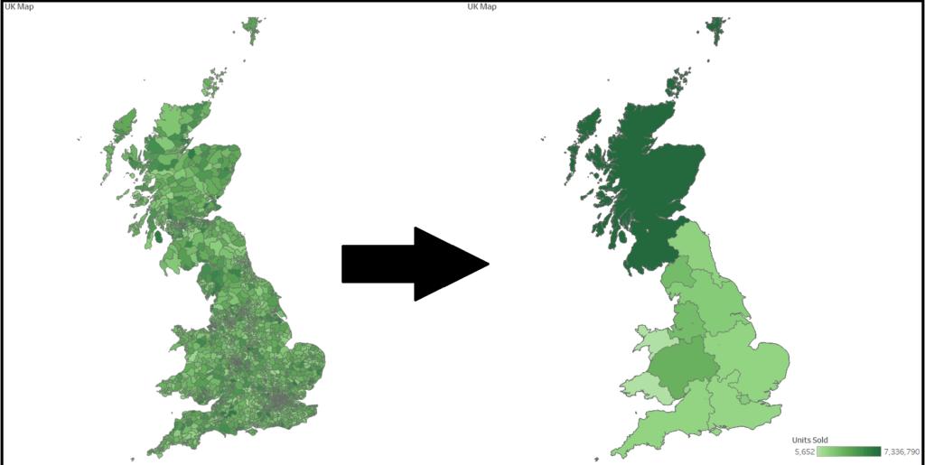 Regional UK map in Tableau
